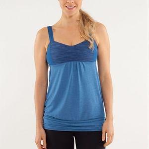 Lululemon Run Back on Track Tank Top Blue Yoga Gym